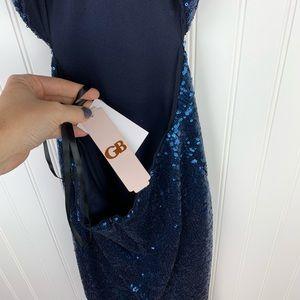 Gianni Bini Dresses - Gianni Bini GB blue sequin cut out midi dress